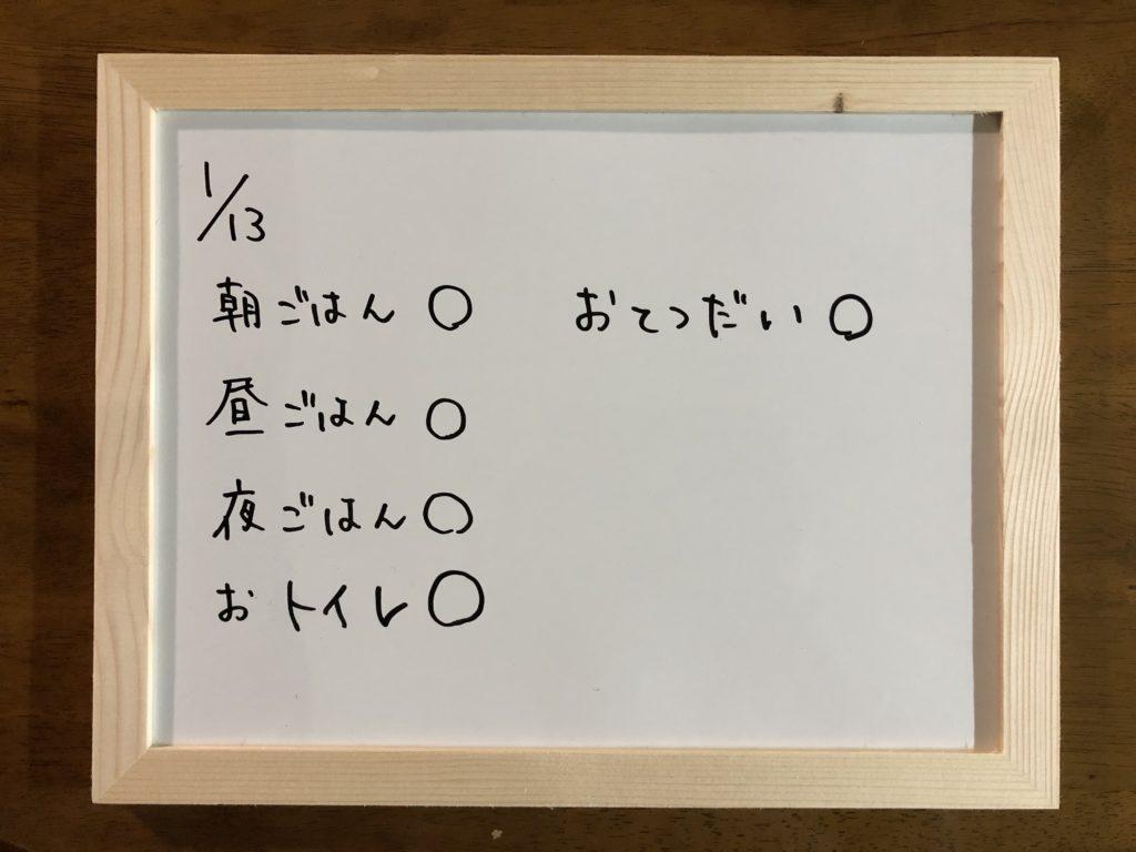 本日(2019/01/13)の成果